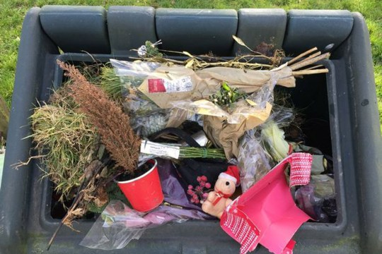 Dad's anger at finding dead daughter's tributes thrown away at cemetery