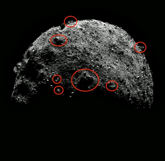 Alien buildings on Bennu claim conspiracy theorists Picture: Nasa/ ufosightingsdaily.com METROGRAB https://solarsystem.nasa.gov/resources/2241/bennu-north-pole-flyover/