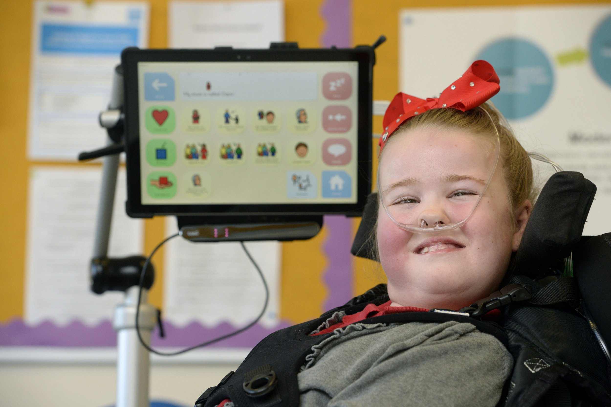 Girl who can only communicate using her eyes needs £10,000 to help her speak