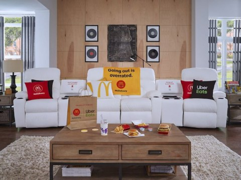 Pose with your McDonald's meal for a chance to win a La-Z-Boy sofa with a built-in McFlurry Chiller