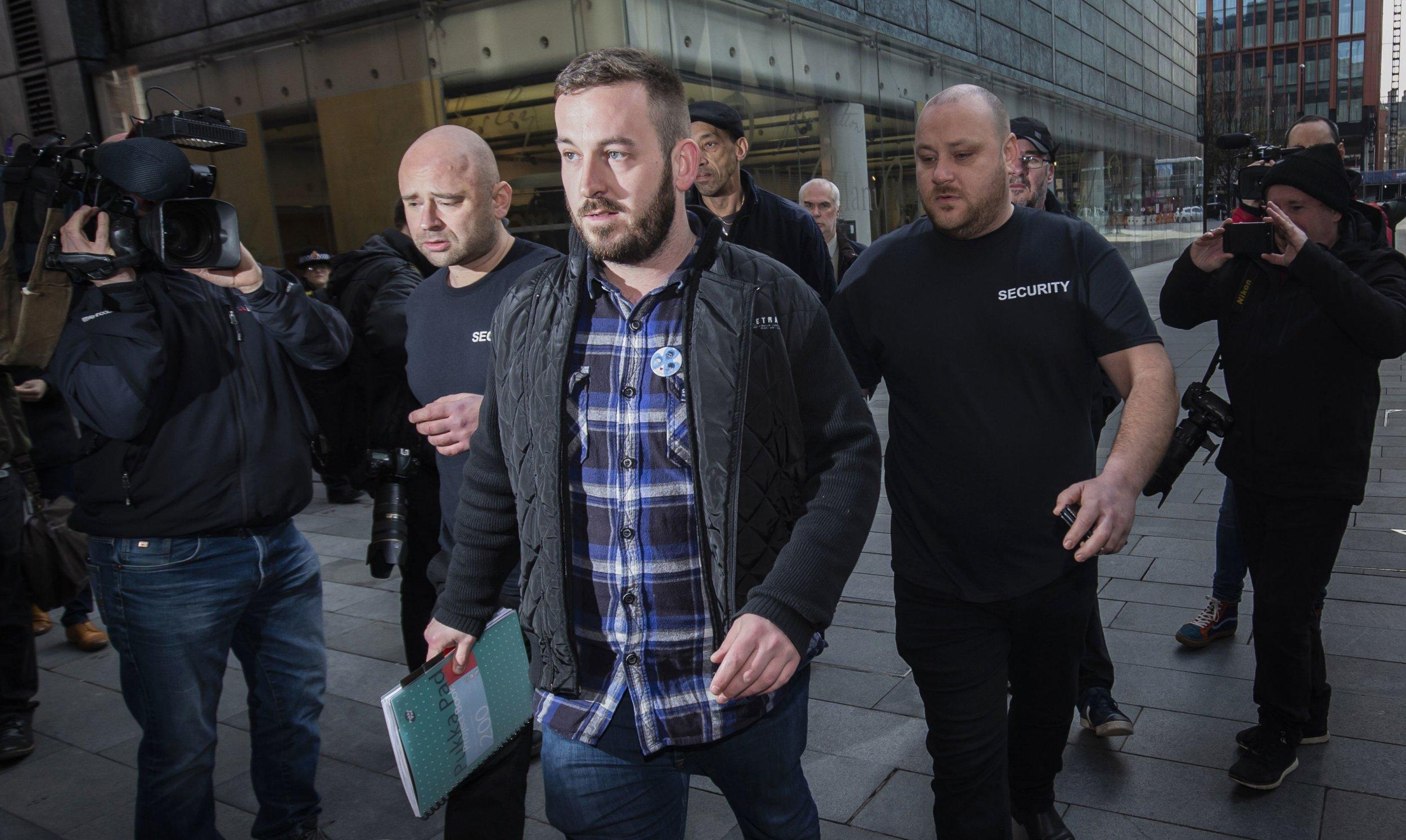 Yellow vest leader James Goddard demands journalists leave assault hearing