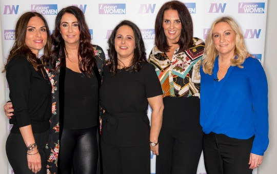 Editorial use only Mandatory Credit: Photo by Ken McKay/ITV/REX (10161068q) Kate, Jen, Charlene, Kelly, and Caroline 'Loose Women' TV show, London, UK - 20 Mar 2019