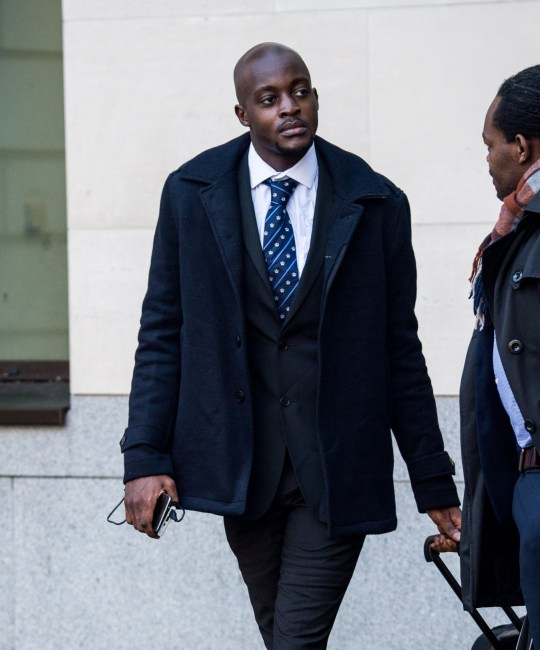 Pic shows Tendai Muswere leaving court. FILE PIC A student accused of making two handguns using a 3D printer has denied manufacturing or possessing weapons. Tendai Muswere, 25, is accused of printing a a revolver and a handgun using plastic resin at his flat in Pimlico in October 2017. The Zimbabwean, who appeared at Southwark Crown Court wearing a white shirt and blue tie, spoke only to confirm his identity and not guilty pleas. Prosecutors allege that he produced a plastic Washbear revolver as well as a so-called Hexen Pepper-box handgun - both specially designed for 3D printing. SEE STORY CENTRAL NEWS. 020 72360116