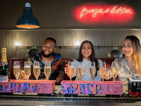 Burger & Lobster is hosting an unlimited brunch where you get champagne delivered by a miniature train