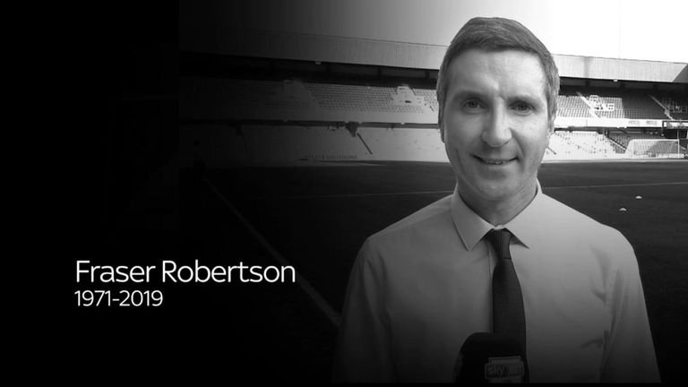 Fraser Robertson, a Sky Sports News presenter, dies age 47