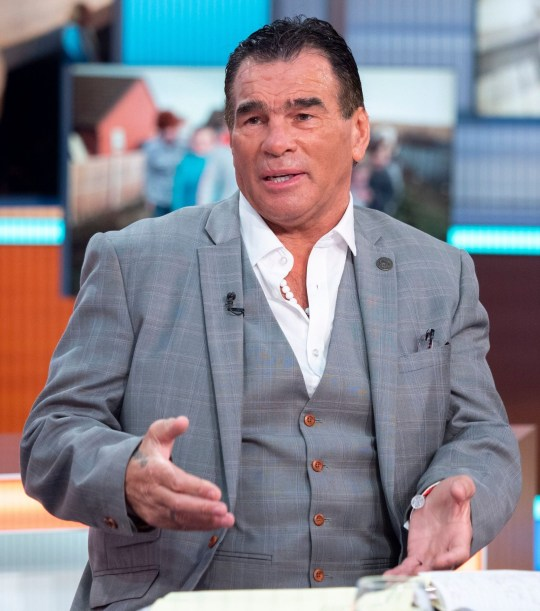 Editorial use only Mandatory Credit: Photo by Ken McKay/ITV/REX (10161795e) Paddy Doherty 'Good Morning Britain' TV show, London, UK - 21 Mar 2019 PADDY DOHERTY'S CANCER BATTLE Paddy Doherty, star of My Big Fat Gypsy wedding, has revealed he is battling prostate cancer. Desk: Paddy Doherty and Dr Hilary