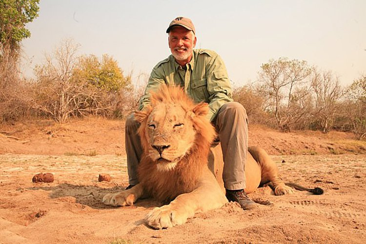 Trophy hunter creeps up on sleeping lion, shoots it, then celebrates A harrowing video of the moment a hunter shoots and kills a sleeping lion in the wild has swept social media. The shooter has been identified as Guy Gorney, 64, of Manhattan, Illinois. Provider: Facebook Source: https://www.dailymail.co.uk/news/article-6829271/Trophy-hunter-seen-creeping-sleeping-lion-shooting-identified-Illinois-man.html