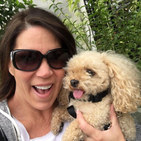 *** EMBARGO UNTIL 21 MARCH 2019 3PM EST/7PM GMT *** Amy Vangemert and Buhner. See SWNS story SWNYclone; A woman who paid $50,000 to clone her dog is so thrilled with the result that she has vowed to clone him AGAIN in six years time. Amy Vangemert chose to duplicate her beloved toy poodle Buhner, 13, when the thought of him passing away made her cry every day. The mum-of-four, 55, of Seattle, Washington, USA, contacted the same Texas company that cloned superstar Barbra Streisand?s pooch in 2017. Just six months later, she was presented with three identical puppies, Buhner Junior, Baxter and Ditto, now two. ?It?s the best decision I?ve ever made,? said Amy, who owns a construction company with her husband John, 55. ?They are my joy in life. It was worth every penny. ?I couldn?t be happier. It?s the best decision I have ever made. ?I would clone over and over again. ?I want these puppies, there?s nothing like them.?