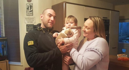 - Picture of Gemma Knowles, 31 with partner Andrew Bolland, 36 and daughter Penelope Bolland, 2 with Wilma TRIANGLE NEWS 0203 176 5581 // contact@trianglenews.co.uk By Helena Kelly A MISSING puppy was found HANGED outside its owner?s house just days after being stolen by sadistic burglars. Mother Gemma Knowles launched an appeal to find her pup Wilma, who was taken during a break-in to her family home. However, the mum-of-three was left heartbroken after discovering the British bulldog?s corpse hanging in her garden two days later, this/yesterday (Thurs) morning.