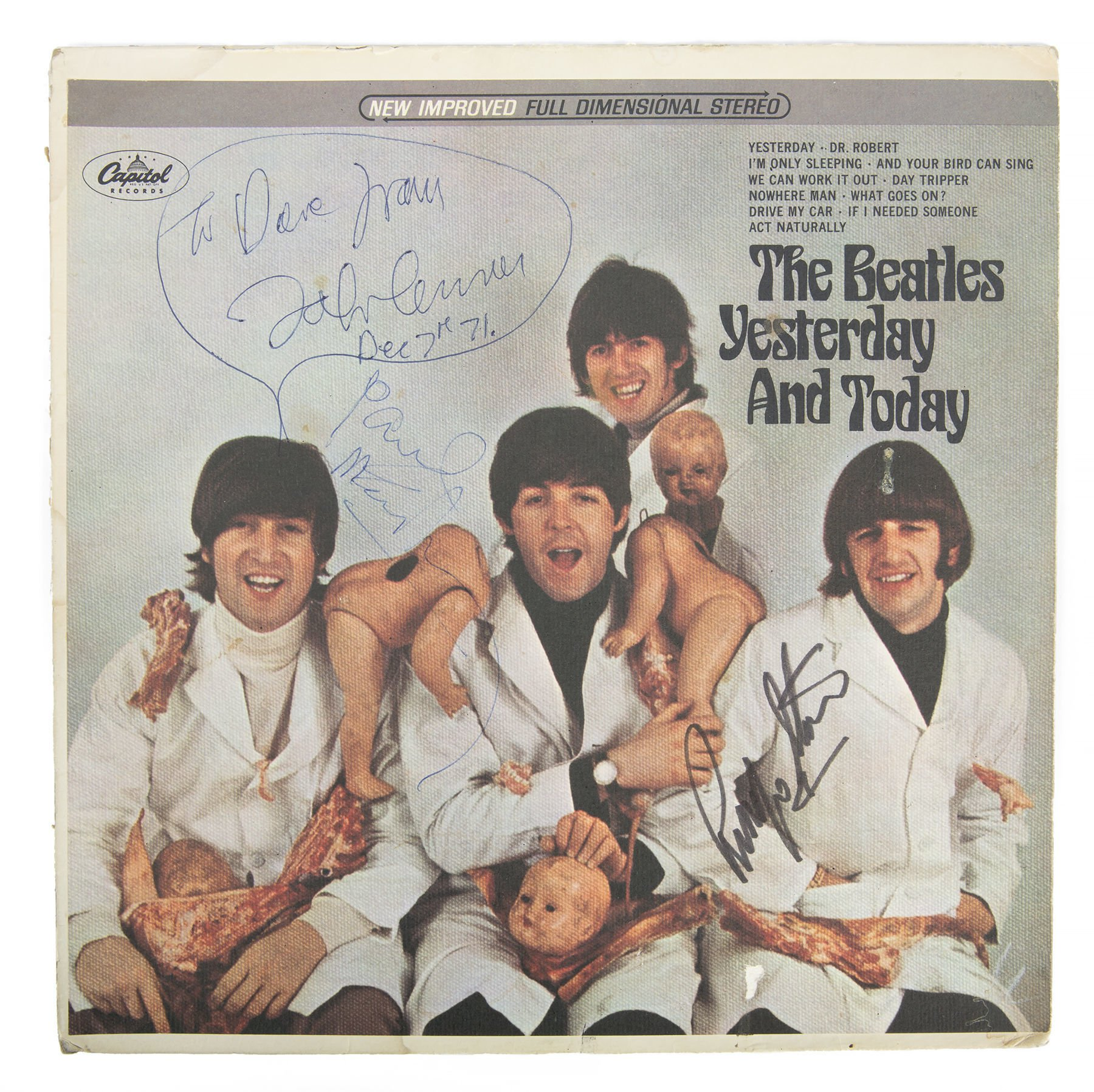 Rare Beatles record with decapitated baby dolls cover expected to fetch £136k at auction