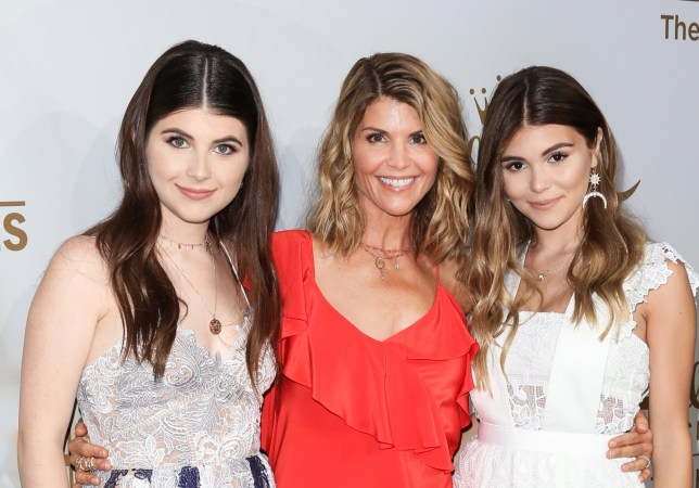 BEVERLY HILLS, CA - JULY 27: Actress Lori Loughlin (C) and her daughters Isabella Rose (L) and Olivia Jade Giannulli (R) attend the Hallmark Channel And Hallmark Movies And Mysteries 2017 Summer TCA Tour at on July 27, 2017 in Beverly Hills, California. (Photo by Paul Archuleta/FilmMagic)