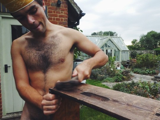 George beekeeping in the buff (Collect/PA Real Life)