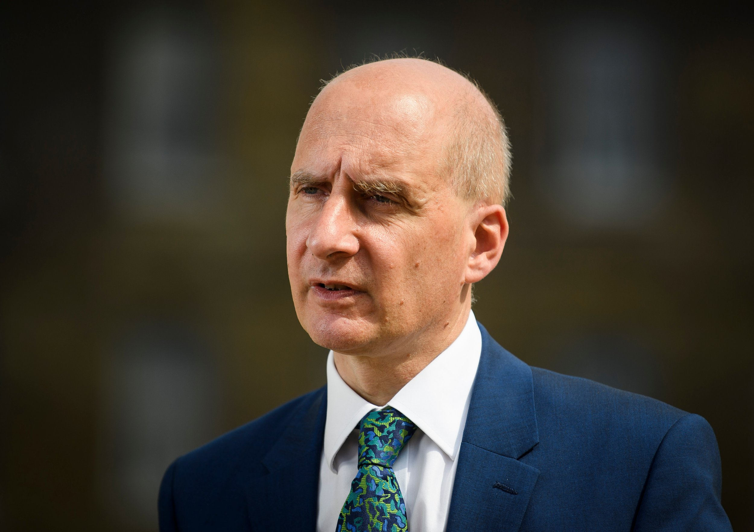 Mandatory Credit: Photo by Ben Cawthra/REX/Shutterstock (9746665d) Lord Adonis is seen speaking to media in Westminster about the resignation of former Brexit Secretary David Davis. David Davis and Boris Johnson resign, London, UK - 09 Jul 2018