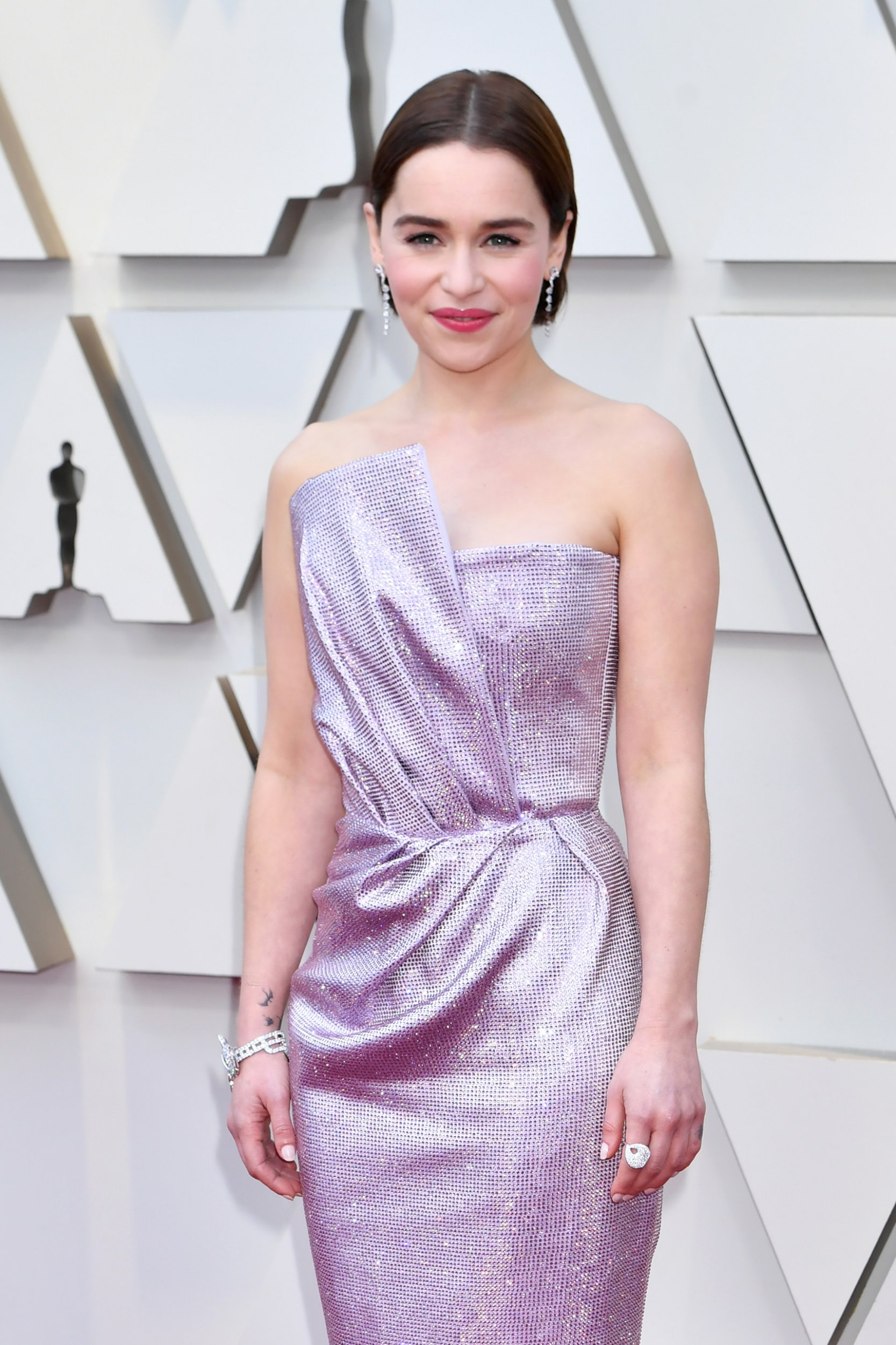 HOLLYWOOD, CA - FEBRUARY 24: Emilia Clarke attends the 91st Annual Academy Awards at Hollywood and Highland on February 24, 2019 in Hollywood, California. (Photo by Jeff Kravitz/FilmMagic)
