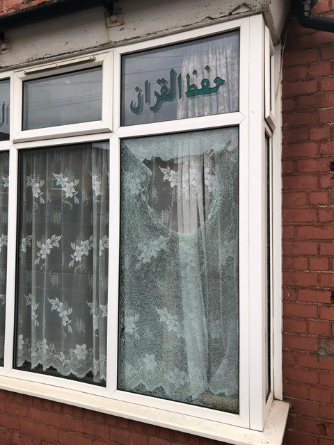 Window smashed at Islamic Centre on Cromer Road in Balsall Heath - A sixth Birmingham Islamic Centre has been subjected to a shocking vandal attack. A window was smashed at a madrasa Islamic Centre on Cromer Road in??Balsall Heath??at around 6.30am this morning (March 23). The centre, which is a small teaching centre for children, is on the corner of Tindal Street, right opposite Ark Tindal Primary Academy. CCTV is currently being examined and investigations continue but at this stage police do not believe this to be linked to the??attacks on five Birmingham mosques??on Thursday March 21. Birmingham Council of Mosques chair Jawad Khan says he is hopeful it is a separate matter and not linked at all.
