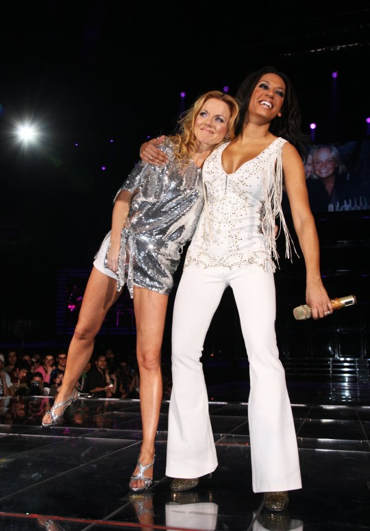 Geri Halliwell and Melanie Brown of the Spice Girls