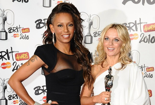 """File photo dated 16/2/2010 of Melanie Brown and Geri Horner as Mel B has claimed she had a one-night stand with her fellow Spice Girl. PRESS ASSOCIATION Photo. Issue date: Sunday March 24, 2019. Brown, 43, said the pair slept together during the group's heyday and """"giggled"""" about it after. She said Horner, 46, would """"kill her"""" for revealing their reported tryst, according to The Sun. See PA story SHOWBIZ MelB. Photo credit should read: Ian West/PA Wire"""
