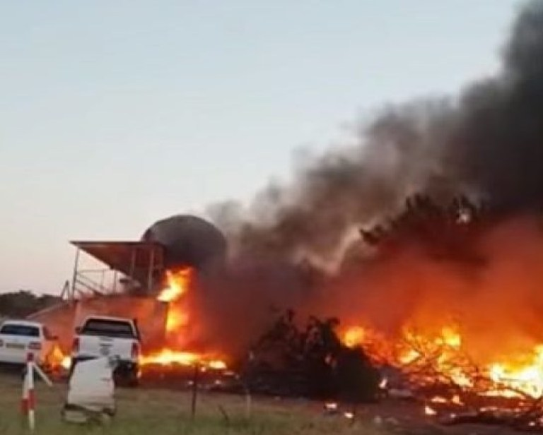 PLANE MURDER PLOT Pilot ?deliberately? flies plane into club hosting baby shower ?in attempt to murder wife following blazing row? Terrifying footage shows Charl Viljoen, 38, circling a clubhouse at an aerodrome in Botswana moments before smashing into the building - killing himself in a huge fireball A PILOT deliberately smashed a stolen plane into a club hosting a baby shower in a bid to kill his wife following a blazing row on Saturday, witnesses say. Charl Viljoen was filmed flying the aircraft dangerously low as he menaced guests at the party in Botswana, according to horrified onlookers. He then ploughed the plane directly into the building, killing himself in a huge fireball and destroying the clubhouse. No one else is believed to have been hurt as panicked party-goers managed to evacuate just moments earlier. Witnesses had noticed the plane circling perilously close to the building at Matsieng aerodrome near Gaborone, the capital of Botswana, just after sunset and rushed to get out. Terrifying footage posted on social media shows the aircraft flying just feet above the ground moments before impact.