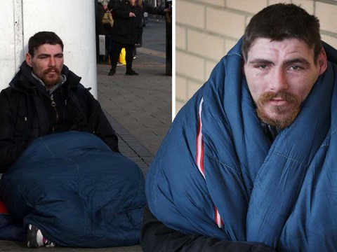 Homeless man handed bank card says it stopped him sleeping rough for the night