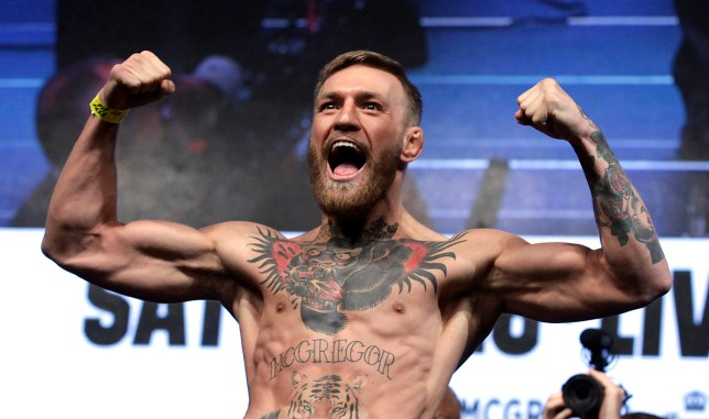 (FILES) In this file photo taken on August 25, 2017 MMA figher Connor Mcgregor poses during a weigh-in in Las Vegas, Nevada. - Mixed martial star Conor McGregor said on March 25, 2019 he had retired from the sport, vowing to hang up his gloves for the second time in three years. (Photo by John GURZINSKI / AFP)JOHN GURZINSKI/AFP/Getty Images