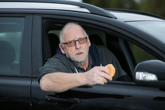 Ian Chapman, of Nottingham, is furious with Nottingham City Council after he was fined ?50 for 'littering' when he claims he only threw two tiny pieces of bread from a McMuffin out of his car window to feed some birds. See SWNS copy SWCAlitter: A wildlife lover has been fined ?50 for 'littering' after a warden spotted him throwing 'tiny pieces' of a McDonald's McMuffin to seagulls from his car. Fuming Ian Chapman, 62, accused a council of 'extortion' for hitting him with Fixed Penalty Notice for feeding the birds with bits of his ?2.09 egg and cheese treat. Mr Chapman denies littering and says that the pieces of muffin were eaten instantly by the birds.