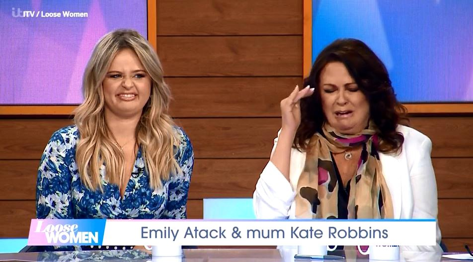 I'm A Celebrity's Emily Atack mortified by mum Kate Robbins' sex stories