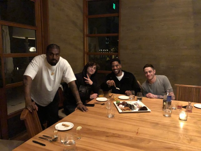 Picture: @KimKardashian Pete Davidson was forced to foot Kanye and Timothee Chalamet's bill at pricey Japanese restaurant Nobu