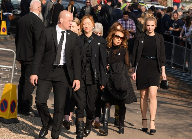 Mandatory Credit: Photo by David Fisher/REX (10181439o) Mayumi Kai, the widow of Keith Flint The funeral of Keith Flint, Bocking, Essex, UK - 29 Mar 2019