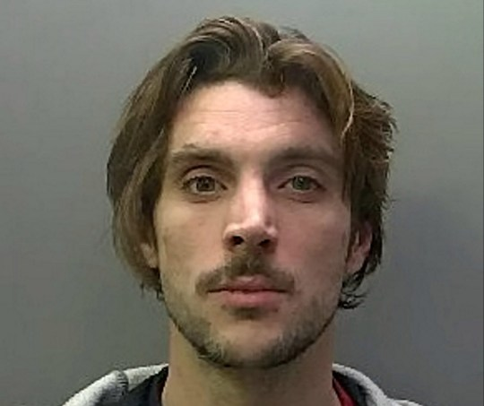 Lewis Howden who was jailed for stealing tray of Galaxy chocolate bars from One Stop shop, on St Paul's Road, Peterborough, Cambs. See SWNS story SWCAsweet. A man who threatened members of the public with a knife in a bid to steal a tray of chocolate bars has been jailed for 14 months. Lewis Howden, 34, entered the One Stop convenience store in St Paul?s Road, New England, Peterborough on 29 January at 6.20pm. He selected a full tray of Galaxy chocolate bars and placed them inside a large black bag. Howden was walking towards the exit, without paying, when two members of staff stopped and challenged him. A customer then grabbed him by the back of his jacket when he tried to get past the staff. Howden got a knife from his trousers and as the other backed away he left the shop.