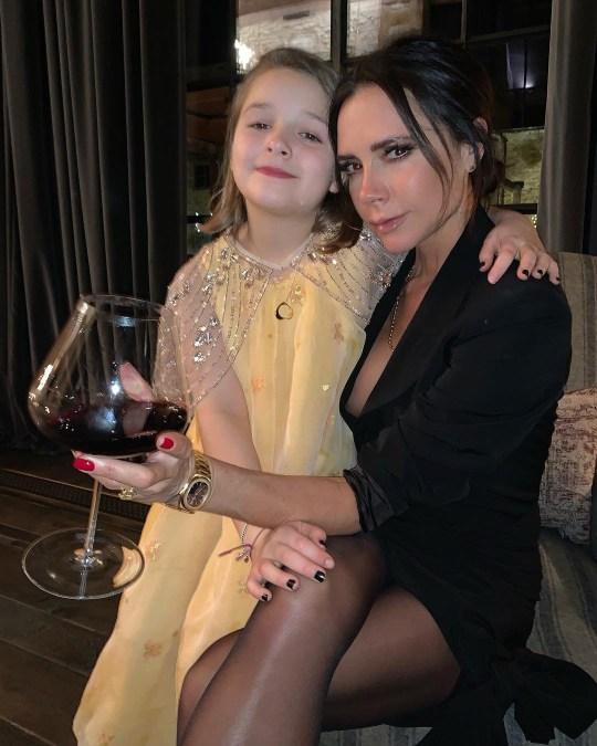 Victoria Beckham and daughter Harper.