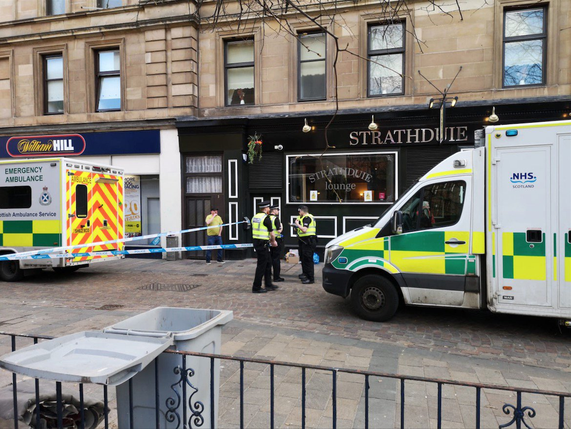 Three 'stabbed' in Glasgow city centre in violent clashes after Celtic v Rangers crunch match A young Celtic fan is said to be 'in a bad way' according to one eyewitness. Albion Street - Football fans Incident Reports of fans fighting after Celtic v Rangers 31/03/19