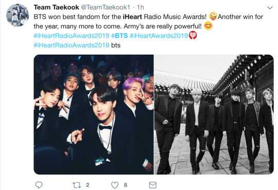 BTS win Best Fan Army at iHeart Radio Awards, but where were