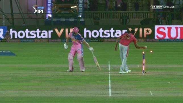 Ravi Ashwin 'Mankaded' Jos Buttler during last year's Indian Premier League