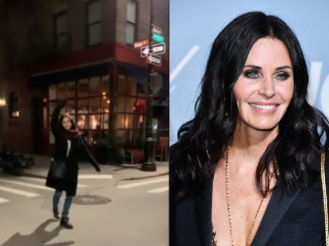 Courteney Cox visits Monica's flat and jokes it's 'The One Where My Rent Went Up $12,000'