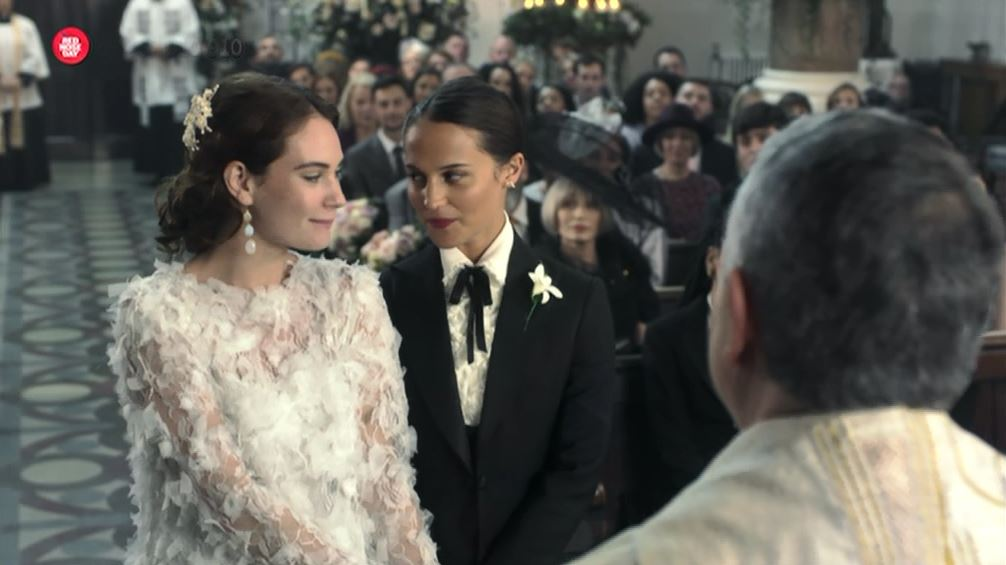 Lily James and Alicia Vikander get married in Four Weddings And A Funeral's Comic Relief sequel