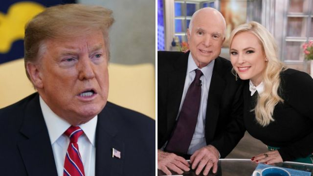 Donald Trump continues to attack John McCain 7 months after his death