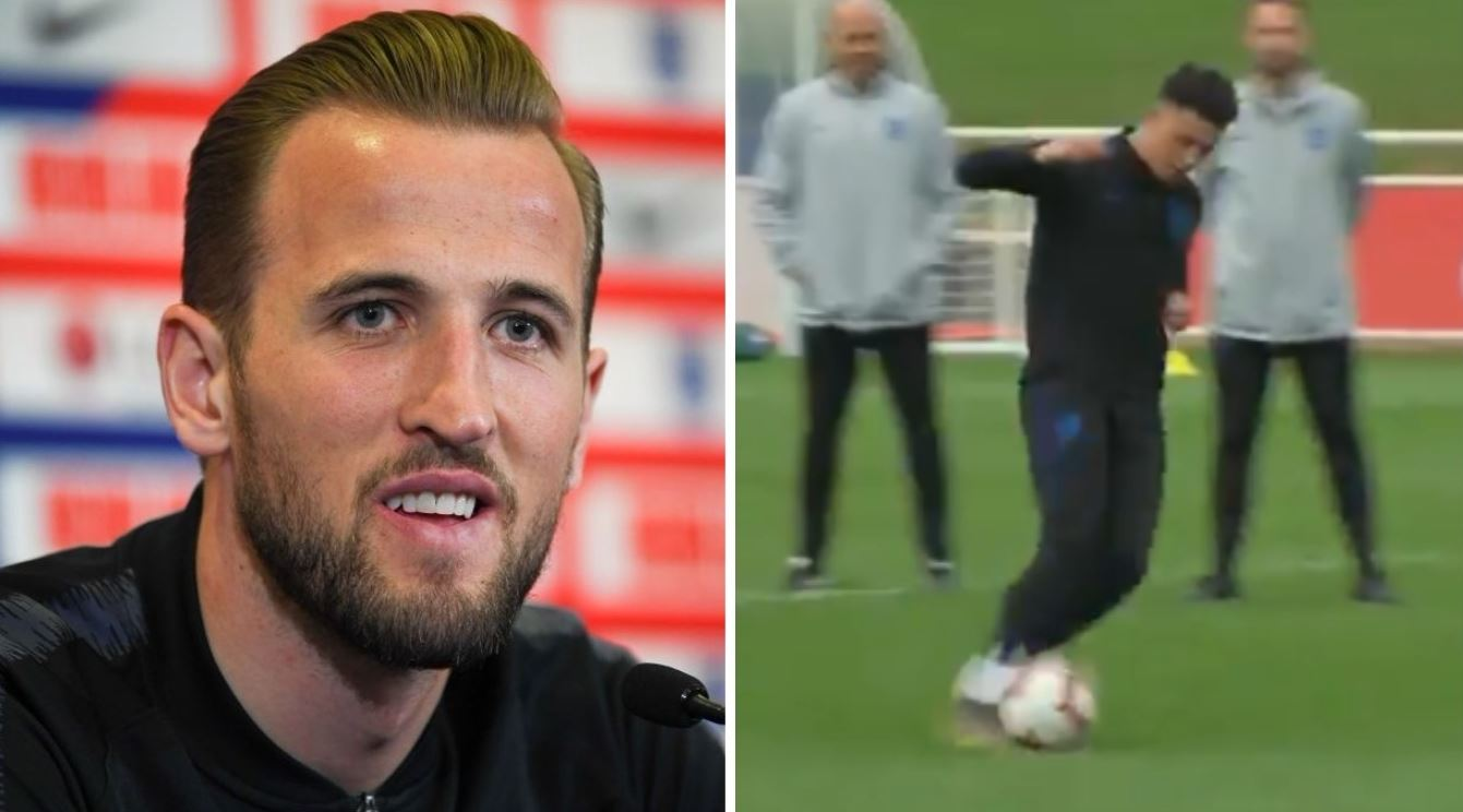 Harry Kane hails Jadon Sancho after outrageous panenka penalty in England training