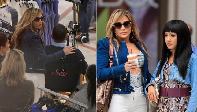 Alex Rodriguez joins Jennifer Lopez on set with Constance Wu