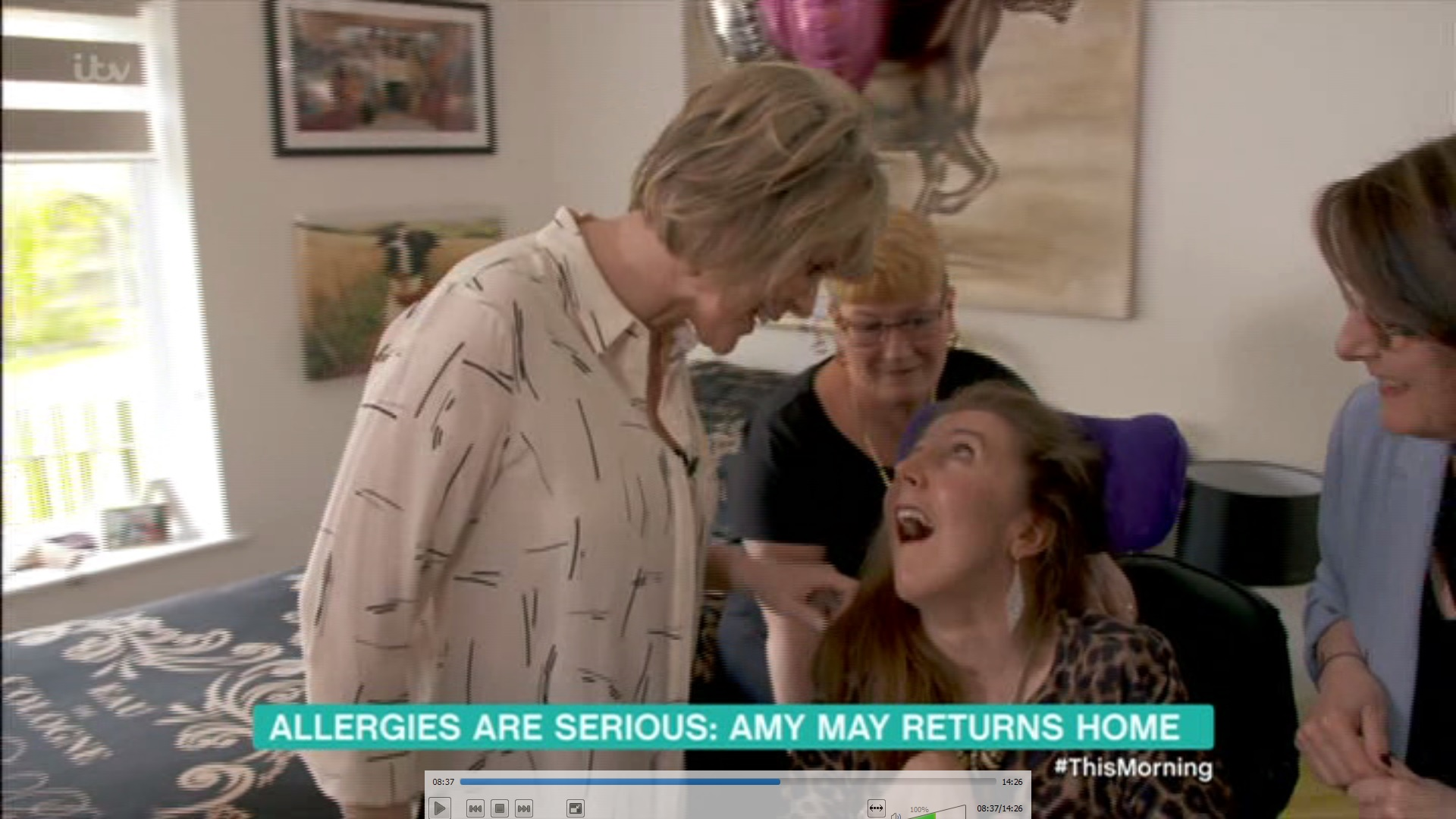 Ruth Langsford makes emotional visit to former colleague left brain injured from allergic reaction