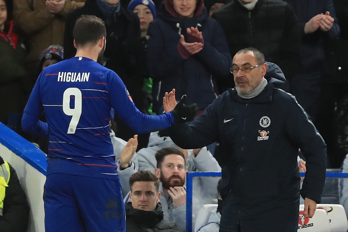 Maurizio Sarri criticises Gonzalo Higuain's physical condition ahead of Fulham clash