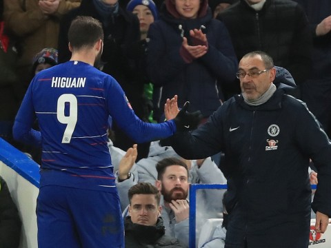 Maurizio Sarri criticises Gonzalo Higuain's physical condition ahead of Fulham clash