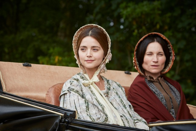 Jenna Coleman as Queen Victoria and Kate Fleetwood as Princess Feodora in Victoria
