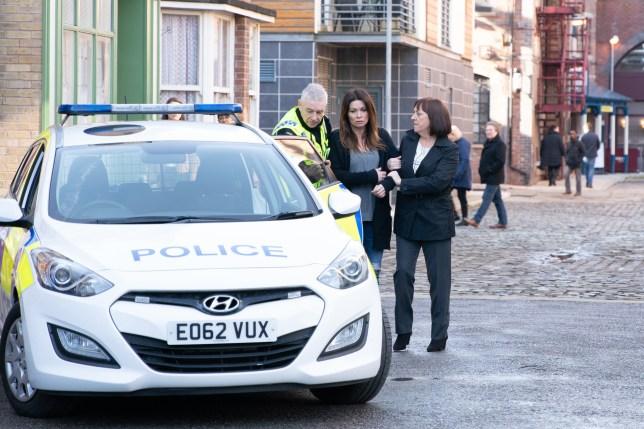 Carla is arrested in Coronation Street