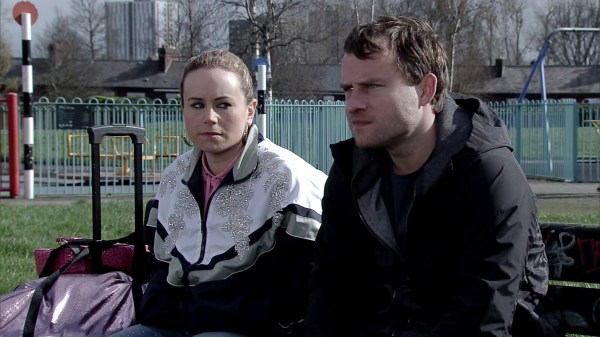 Gemma and Paul wait for her mum in Coronation Street