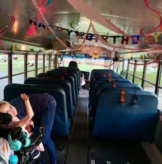 girl, bus