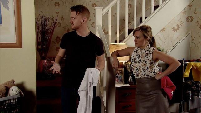 Sarah Platt (Tina O'Brien) puts herself in danger going after Rick Neelan (Greg Wood)