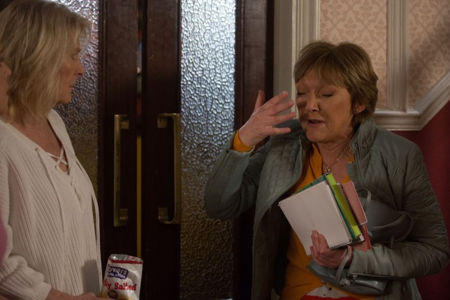 Jean and Shirley are scared in EastEnders