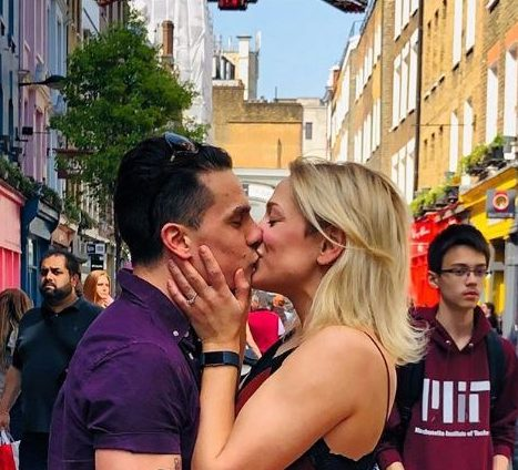 Aaron Sidwell proposed on Carnaby Street
