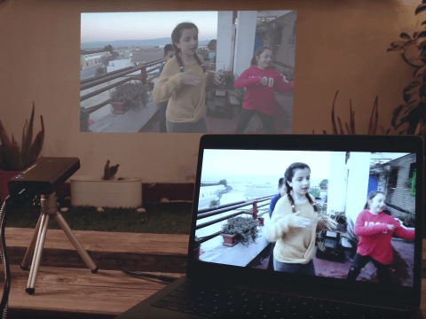 Forget the TV, we used a 'pocket cinema' to beam Netflix instead