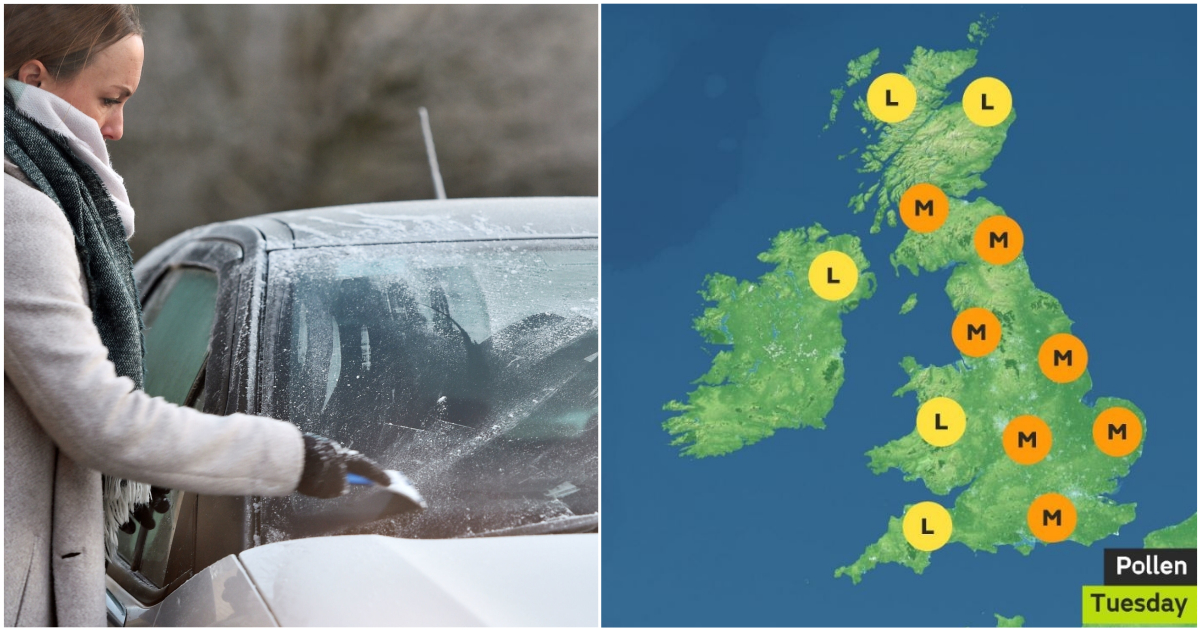 Weather forecast: Today you'll need suncream, hayfever tablets and your Big Coat